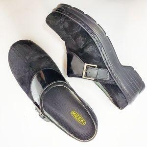 Women's Keen Black Comfort Shoes Clogs Klogs 8.5